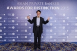 Albert Chiu from EFG Bank receives the award for Best Private Bank - Pure Play