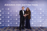 Chris Marquis from HSBC Private Bank receives the award for Best Private Bank - Trust & Advisory Services