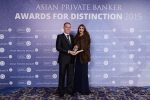 Christian Senn from Credit Suisse receives the award for Best Private Bank - Thailand International