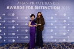 Helena Koo from Goldman Sachs receives the award for Best Private Bank - Employer of the Year
