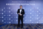 Marcus Sloor from Credit Suisse receives the award for Best Private Bank - Malaysia International