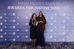 Marina Lui from UBS Wealth Management receives the award for Best Private Bank - China International