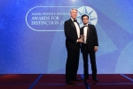 Mark Smallwood from Deutsche Bank receives the award for Best Private Bank - Indonesia International