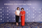 Stella Cabalatungan and Josephina Tan from BDO Private Bank receives the award for Best Private Bank - Philippines Domestic