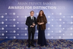 Theerapan Nunthapolpat from Siam Commercial Bank receives the award for Best Private Bank - Thailand Domestic