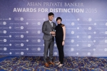 Wei Wei and Christina Tung from UBS Wealth Management receives the award for Best Private Bank - Philanthropic Services