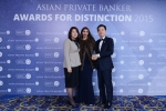 Younghun Kim and Sunyoung Sung from KEB Hana Bank receives the award for Best Private Bank - South Korea