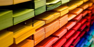 colourful paper sorting data